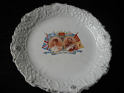 King George V Queen Mary Silver Jubilee commemorative plate