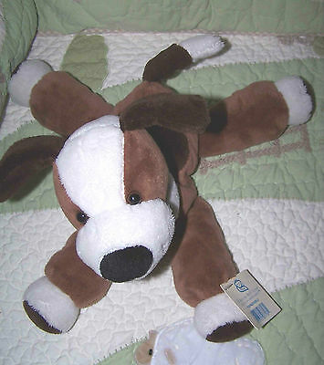 "Princess Soft Toy Stuffed Floppy Brown & White Pupadoodle Puppy Dog 12"" NWT"