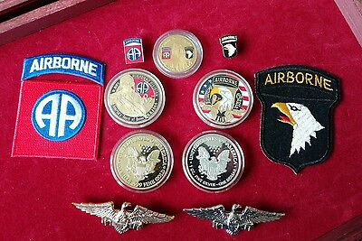 UNITED STATES 82nd & 101st AIRBORNE D.DAY COINS, PATCH & BADGE COLLECTION