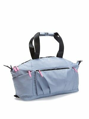 Victoria's Secret VSX Sport Silver Gym Bag Duffle Travel Weekender Tote Bag