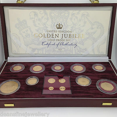 2002 Golden Jubilee Gold Proof Set with Box & COA