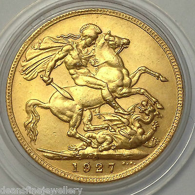 1927  Gold FULL Sovereign George V  SOUTH AFRICA Mint