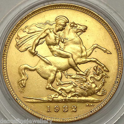 1932  Gold FULL Sovereign George V  SOUTH AFRICA Mint