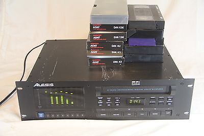 Original Alesis ADAT 8 Track Digital Recorder w/ 11 Tapes See Pics & Desc!