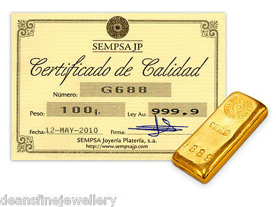 Sempsa 100 Gram Gold Bar