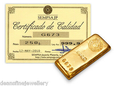 Sempsa 250 Gram Gold Bar