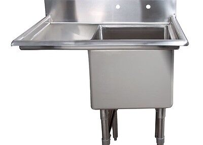 Win holt  14 Gauge Single Compartment Sink W/ Left Hand Drain Board