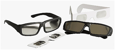 Solar Eclipse Glasses Viewing 4-pack - 2 Hard Frame Plastic, Plus 2 Paper Frame