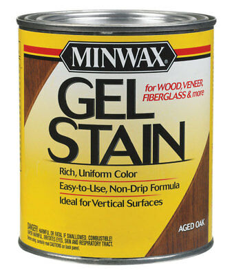 Minwax 66020 1 Quart Aged Oak Gel Stain Interior Wood