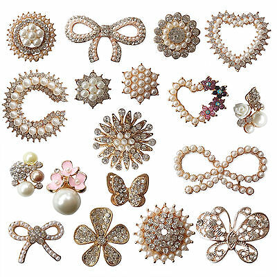 Luxury Diamante Pearl Embellishment Scrapbooking Cardmaking Wedding Card Craft F