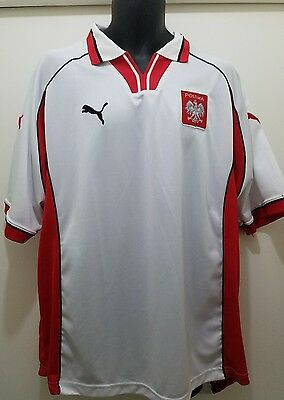 Poland Puma Jersey National Team Soccer Vintage Size Double Extra Large XXL