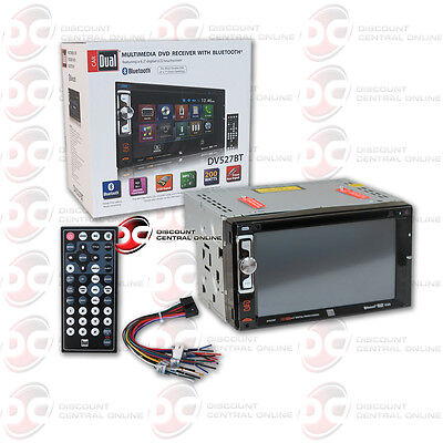 "Dual Dv527Bt Car 2-Din 6.2"" Touchscreen Lcd Cd Dvd Usb Bluetooth Stereo"
