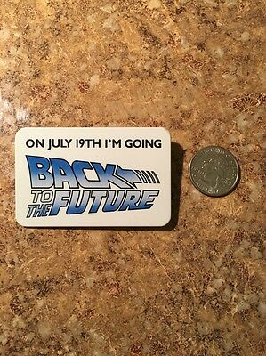 Back To The Future Button Movie  Promo Pinback Vintage 1985 Wrong Date
