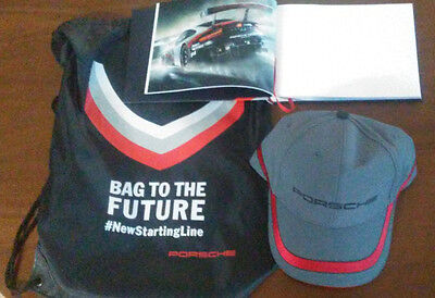 PORSCHE 919 Hybrid Racing Collection HAT Red/Grey Baseball CAP adjustable w/Book