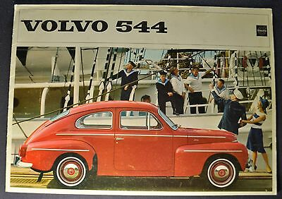 1964 Volvo 544 Catalog Sales Brochure Excellent Original 64