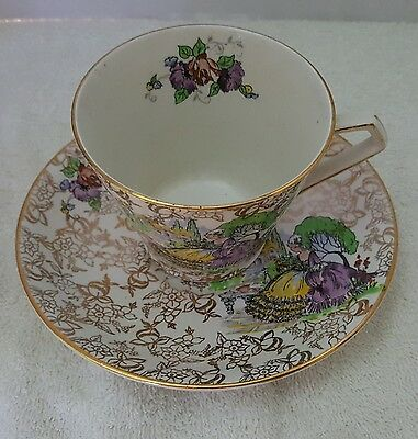 Lord Nelson Ware Pompadour Cup And Saucer