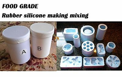 Silicone Rubber Mould making Mix 1kg.1:1 Ratio  FOOD GRADE cakes, soap, candle