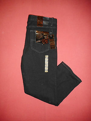 New Urban Republic Zip-Fly - Mens Black Denim Jeans - Waist 38 Leg 32 - B297