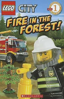 Lego City Fire in the Forest!  Level 1 Children's Reader Picture Story Book NEW