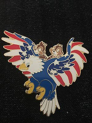 HTF Rare Chip Dale Disney Auction PINS Limited Edition 100 Patriotic Eagle Jumbo
