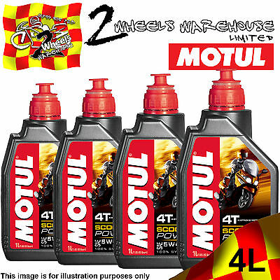 1L 2L 3L 4L Motul Scooter Power Sae 5W40 Ma 4T Fully Synthetic Engine Motor Oil