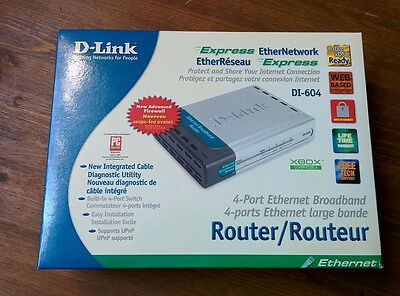 D-Link DI-604 Broadband Ethernet Wired Router