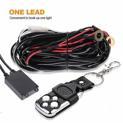 LED Light Bar Wiring Kit Remote Control Switch 12V 40 A Fuse Relay ON-OFF 1LEAD