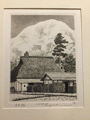 TANAKA RYOHEI 1978 IBUKI March A.P. 1/15 Org.Signed & Numbered Etching !