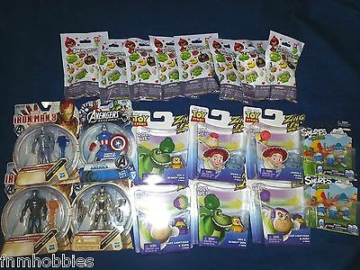 TOYS: Toy Lot Smurfs, Toy Story, Angry Birds, Iron Man, Captain America FIGURES