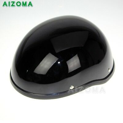 Black Low Profile Motorcycle Half Helmet Skull Cap Biker Chopper Cruiser Novelty