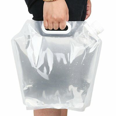 Protable Folding Water Storage Bag Camping Collapsible Liquids Container 5L EW