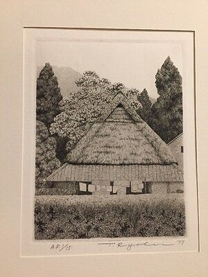 TANAKA RYOHEI 1977 Early Summer A.P. 1/15 Org.Signed & Numbered Etching !
