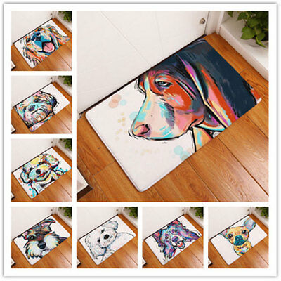 Fashion Cartoon Dog Entrance Floor Rug Anti-slip Doormat Carpet Bedroom Door Mat