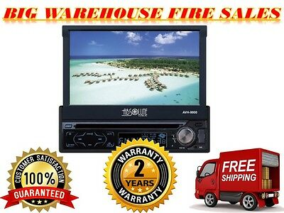"Absolute AVH900AT 7"" SINGLE DIN IN DASH MOTORIZED DVD / CD / MP3 / USB /TOUCH"