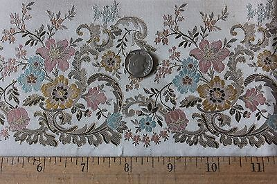 Rare Antique 19thC French Silk Fabric Sample With Tag c1840-1860~Dolls,Frame