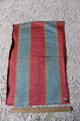 "Lovely French 18thC Silk Home Dec Woven Stripe Fabric~19""L X 12 1/2""W"