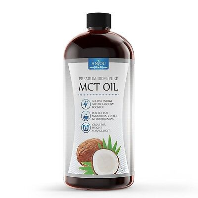 Anjou MCT Oil 32 Oz Good for Bulletproof Coffee Weight Management Boost Metab...