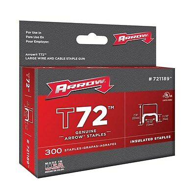 """Arrow Fastener 721189 19/32"""" T72 Insulated Staples"""