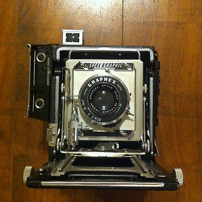 "3 1/4"" x 4 1/4"" Pacemaker Speed Graphic medium format camera with 120 rollback."