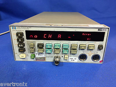 HP / Agilent / Keysight 438A Dual Sensor Power Meter, OPT 002, w/o Sensor,Tested
