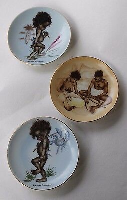 1950's Collection of 3 Brownie Downing Wall Plates  VGC