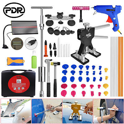 PDR 65x Paintless Dent Removal Tool Dent Repair Lifter Slide Hammer Tap Down Box