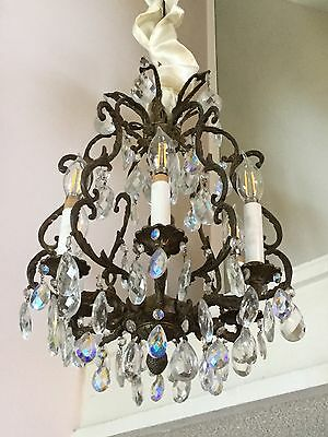 Chandelier, Spanish Style, Antique