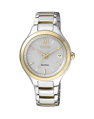 NEW Citizen Ladies Two Tone Stainless Steel Eco-Drive Watch - EO1164-54A