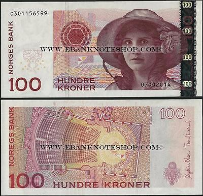 Norway,100 Kronur,2014 ,P47,Uncirculated @ EBS