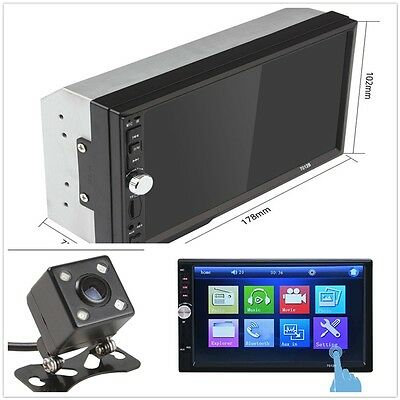 1Pcs Universal Car MP5 Player 7 inch Touch Screen 2 Din with Rear View Dash Cam