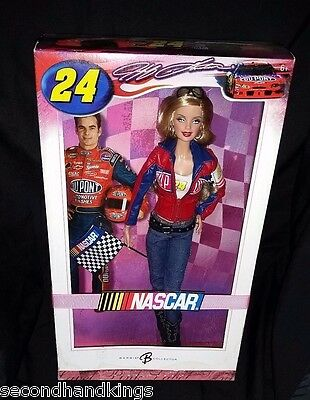 Nascar Collection 2006 Jeff Gordon #24 Pink Label Collectible Barbie Doll