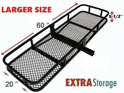 FOLD AWAY STEEL MESH CARGO RACK BASKET CARRIER LUGGAGE HITCH TOW BAR CAR Roof