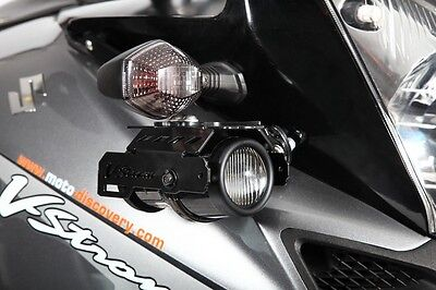 Suzuki V-Strom fog lights kit with mounting brackets