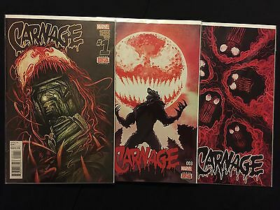 CARNAGE # 1 2 3 4 5 6 1st Print NM Marvel Comics 2015-2016 NOW run lot Man-Wolf